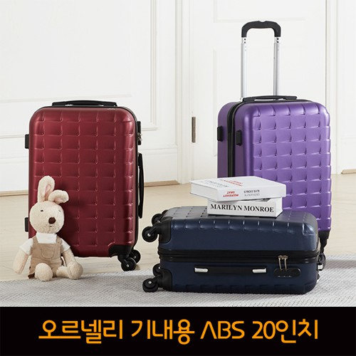 ORNELLI 초콜릿 기내용 ABS 여행가방 20 Size/OT-203-20