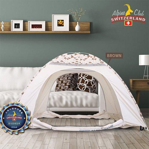 스위스알파인클럽 제나 원터치 난방 텐트 (1~2인용 브라운) ACT-06
