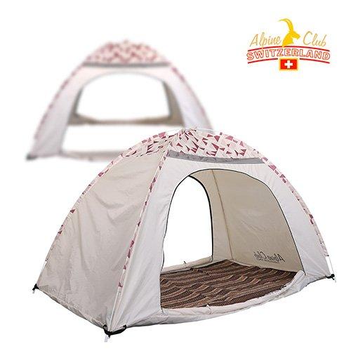 스위스알파인클럽 제나 원터치 난방 텐트 (1~2인용 퍼플) ACT-06