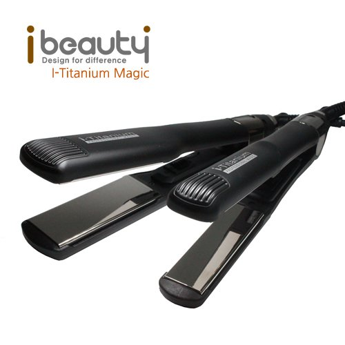 아이뷰티 I-TITANIUM 티타늄 발열판 온도조절 프로용 아이론 고데기 IB-TITANIUM MAGIC (옵션 : 긴머리용L, 짧은머리용M 택1)