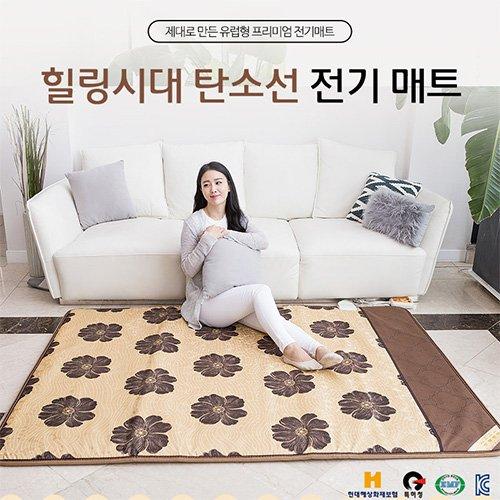 대진전자 19년형NEW힐링시대 EMF 인증 2난방 탄소열선 전기매트 더블 DEJ-9001 1500*2000mm